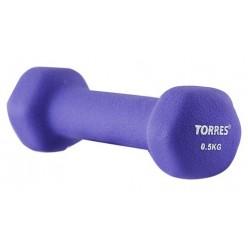 Гантель TORRES 0,5 кг